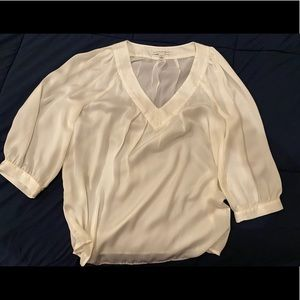Banana Republic ivory blouse